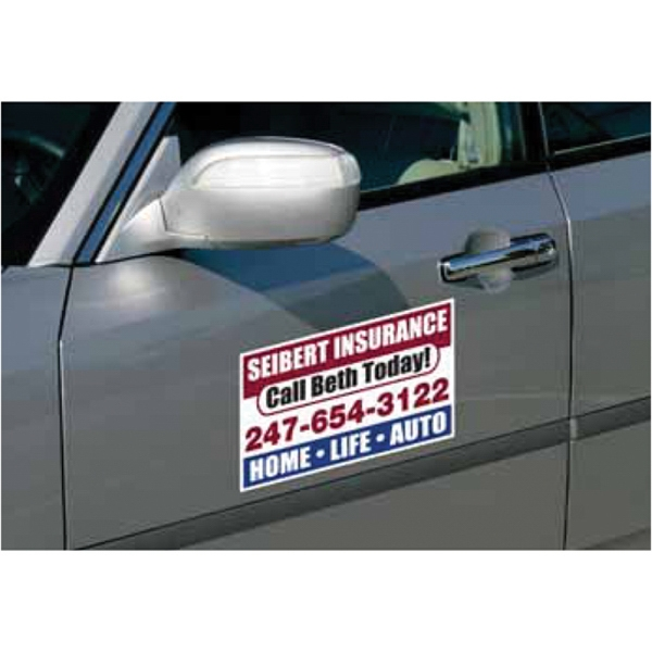 Custom Car Sign Small Rectangle Magnet