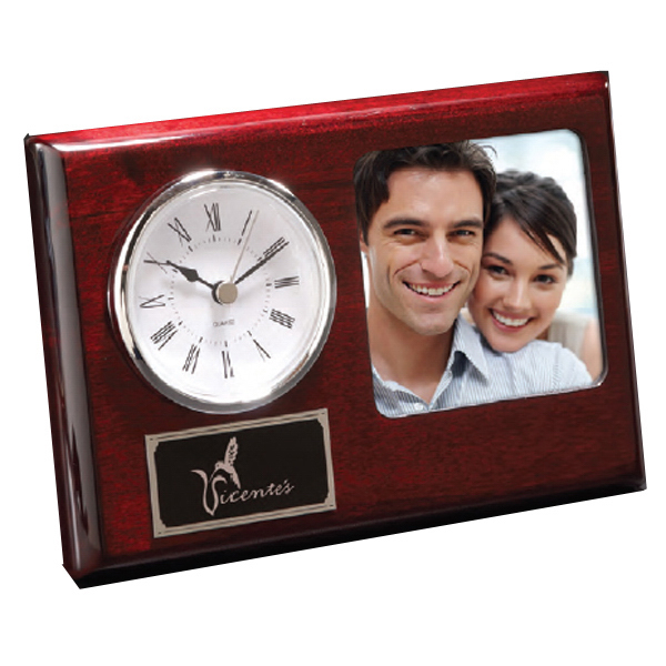 Printed Madera Frame with Clock