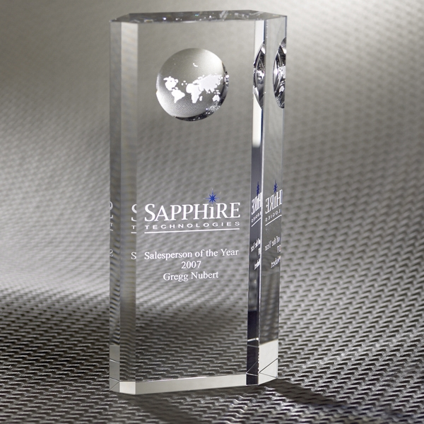 Promotional Nazione Pillar Globe Optically Perfect Award