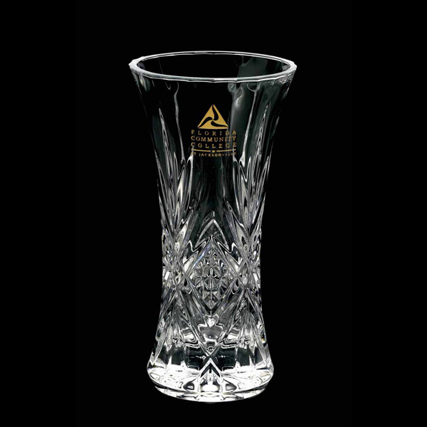 Imprinted Aria Crystal Vase