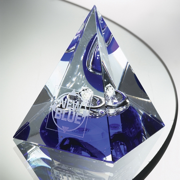 Personalized Pharaoh Art Glass Award