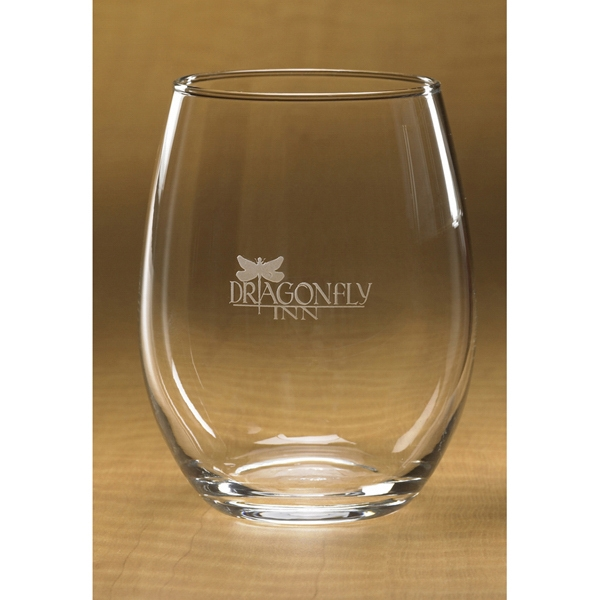 Printed Stemless White Wine Glass - Set of 4
