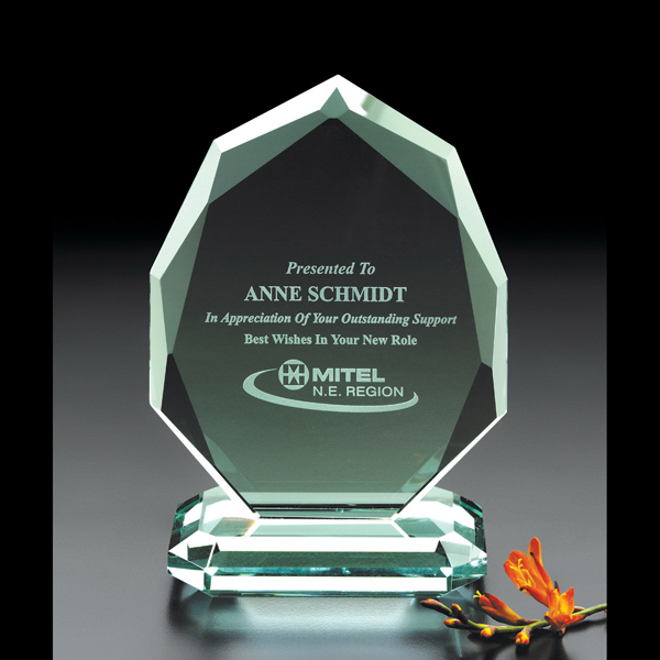 Printed Iroquois Jade Glass Award