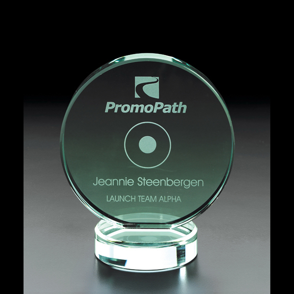 Imprinted Corsair Jade Glass Award
