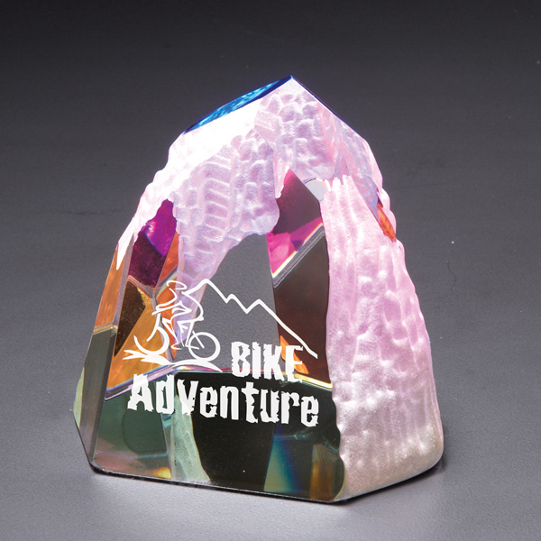 Customized The Rock Dichroic Crystal Award