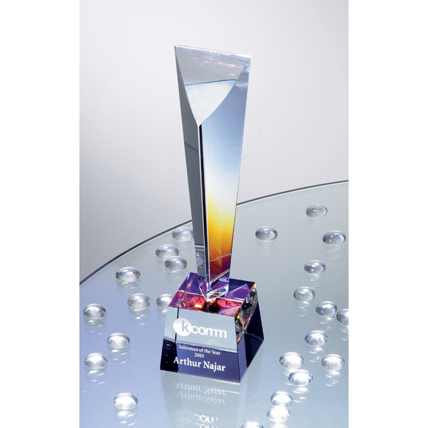 Customized Arcobaleno Dichroic Crystal Award