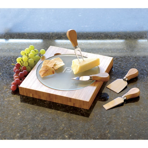 Printed Fontina Bamboo Cheese Board