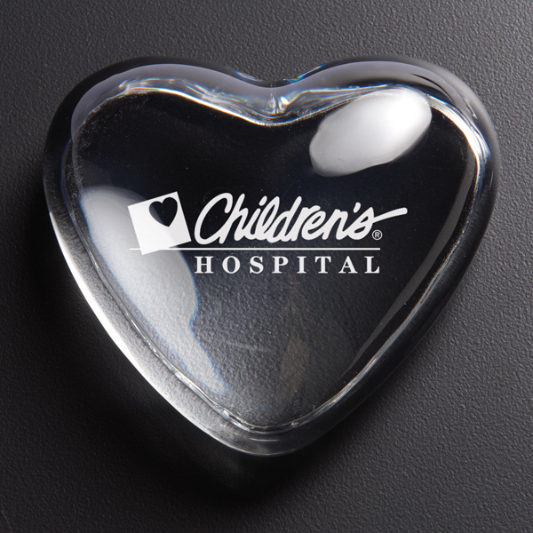 Personalized Heart Paperweight