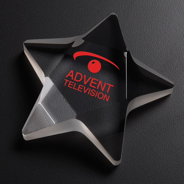 Customized Star Optically Perfect Paperweight