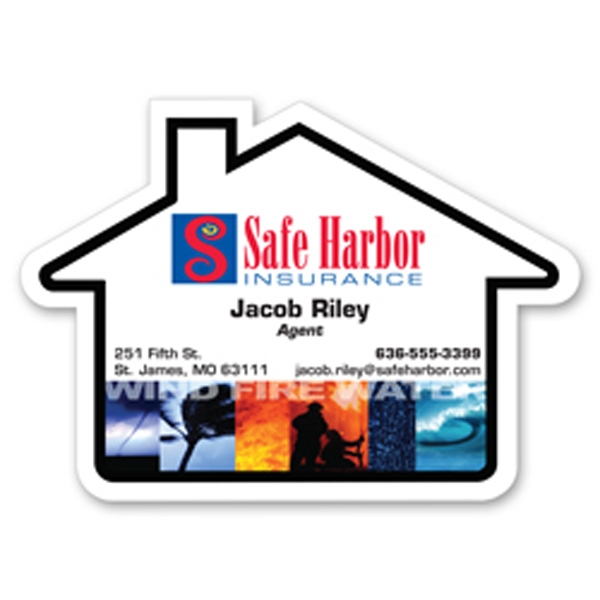 Custom Jumbo House Magnet