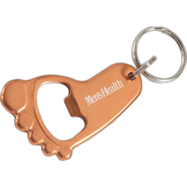 Customized Foot Bottle Opener Key Chain