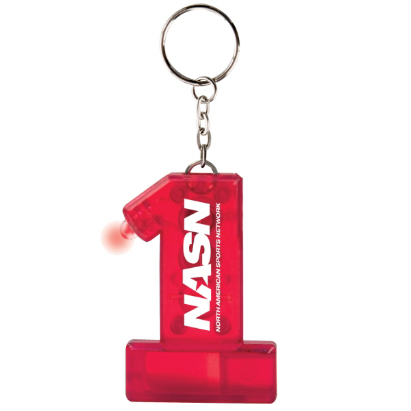 Printed Number 1 Keylight Whistle