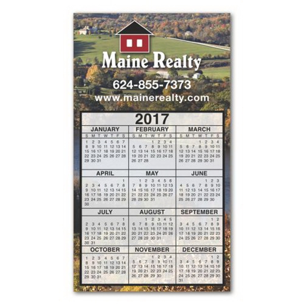 Customized 3-29/32 x 6-15/16 Calendar Large Magnet