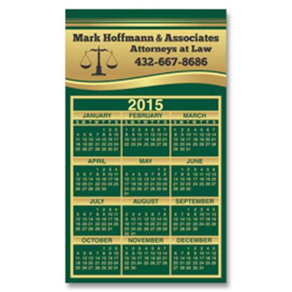 Personalized 2-29/32 x 4-15/16 Calendar Sq Crnr Magnet