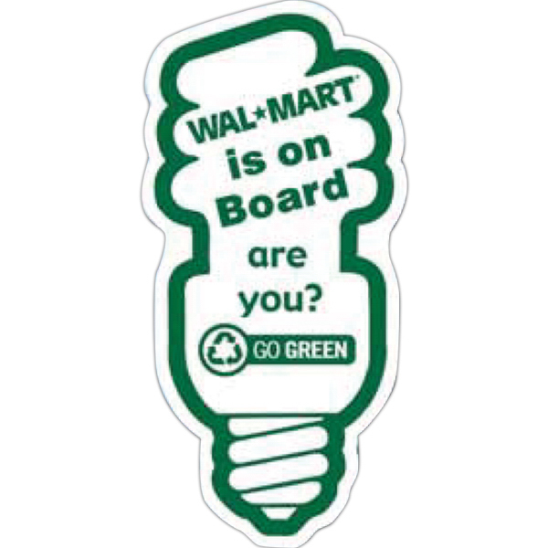 Custom Go Green Fluorescent Light Bulb Magnet