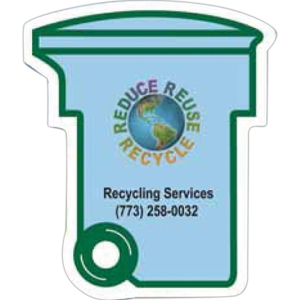 Printed Go Green Recycling Bin Magnet
