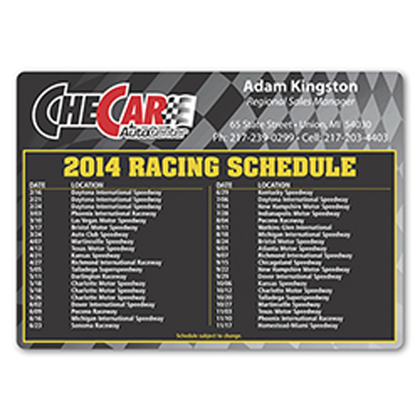 Customized Racing Schedule Magnet