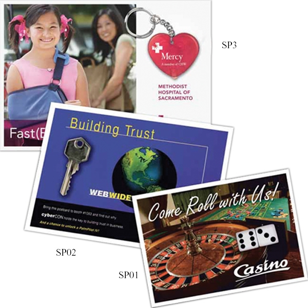 Imprinted 4-1/4 x 6 Skinpackage  4CP Direct Mail Postcard