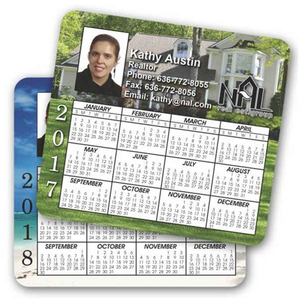 Printed Double Sided Calendar Magnet