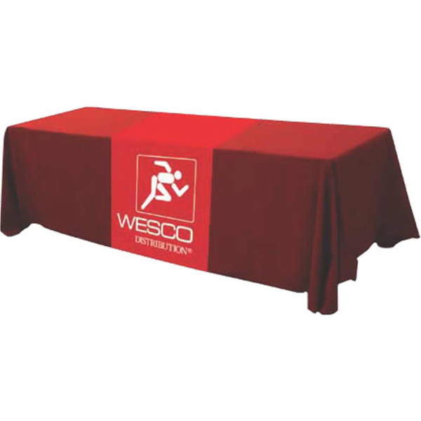 Customized 6' Dye-Sublimated Poplin Table Runner