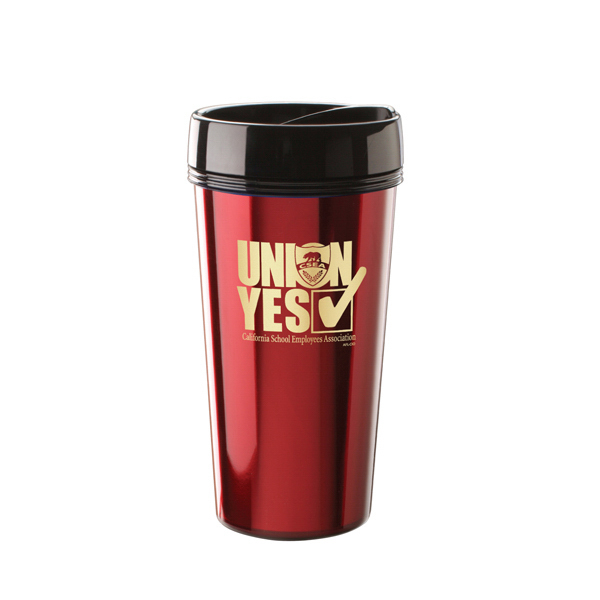 Promotional ThermalTraveller Metallic Foil Travel mug