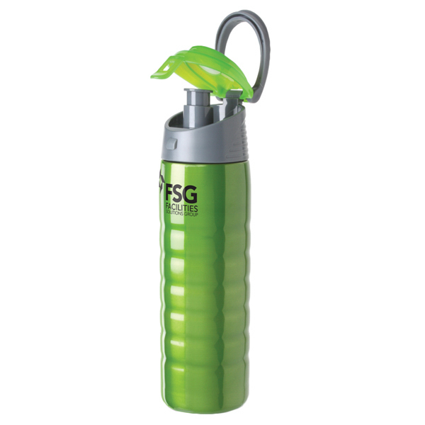 Customized Hydration(TM) Cascade stainless steel sports bottle