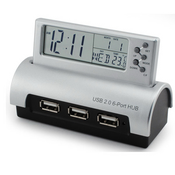 Personalized 6 Port USB Hub with Info Center