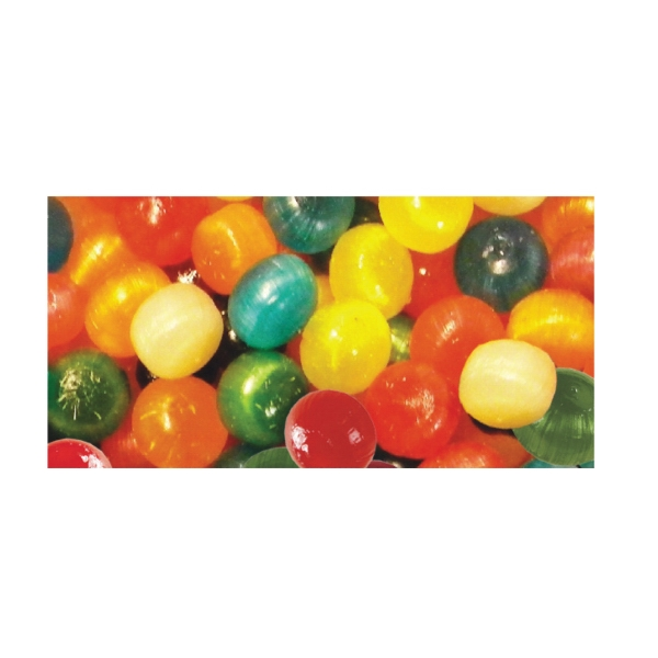 Imprinted Assorted Fruit Balls Candy