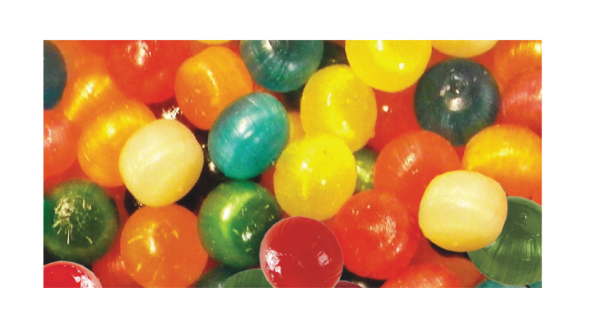 Imprinted Assorted Fruit Balls Hard Candy