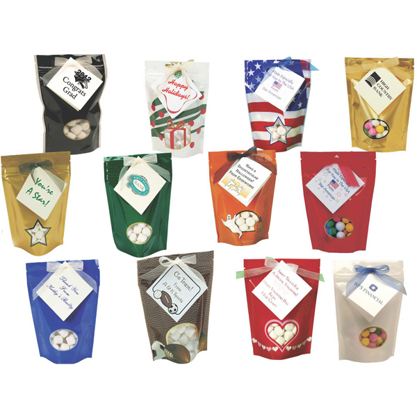 Customized Assorted Gourmet Chocolates Soft Candy Bags