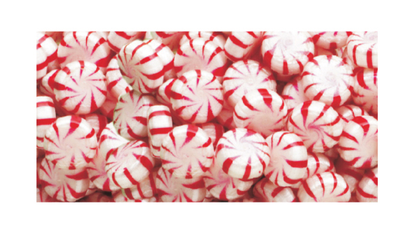 Personalized Red Peppermint Starlites Hard Candy