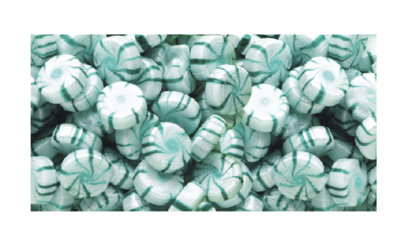 Imprinted Spearmint Starlite Hard Candy