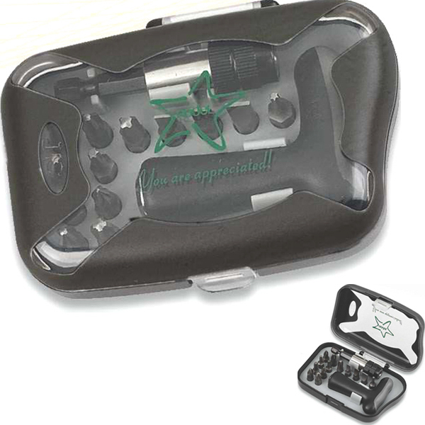 Imprinted Compact precision tool set