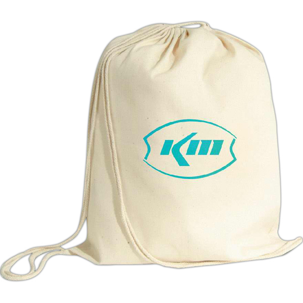 Promotional Vanilla drawstring backpack
