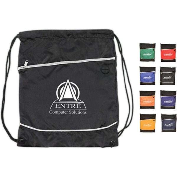 Imprinted Acapulco drawstring backpack