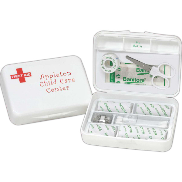 Imprinted Compact first aid kit