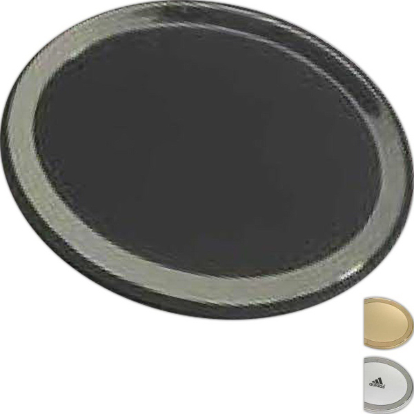 Imprinted Oval compact mirror