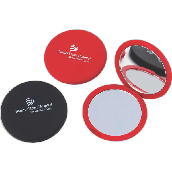 Promotional Soft feel round compact mirror