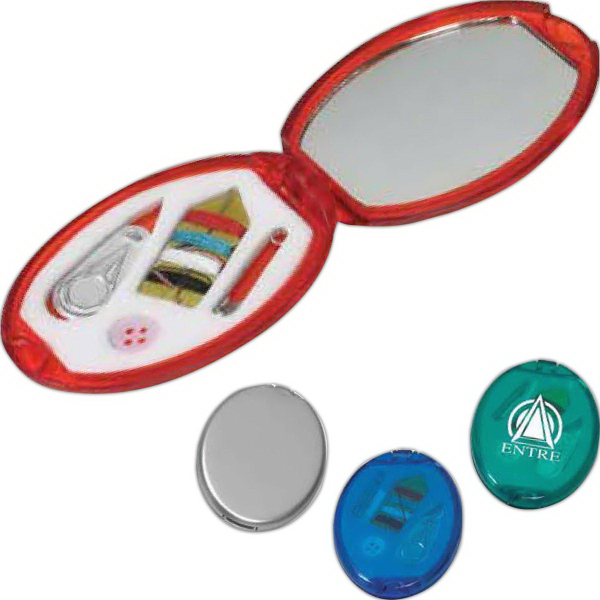 Personalized Translucent colored sewing kit
