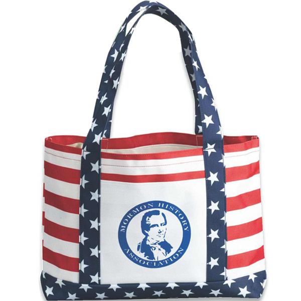 Printed US patriot tote