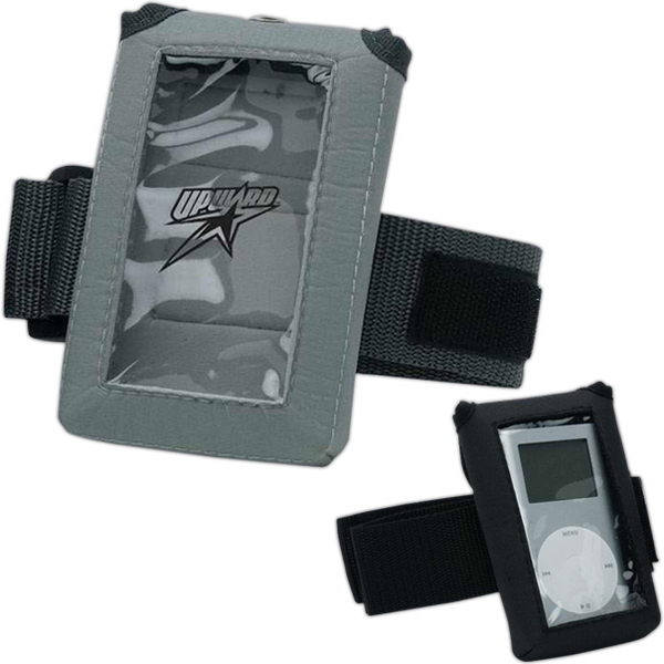 Customized MP3 and iPod athletic pouch with window