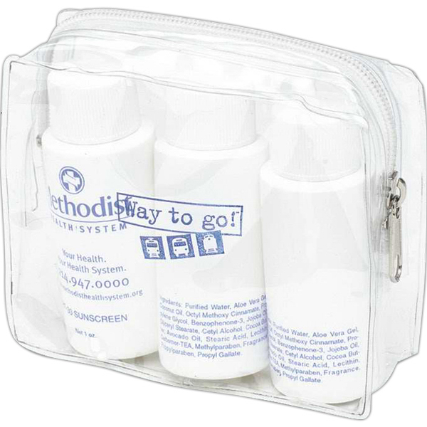 Promotional Harmony clear amenity bag