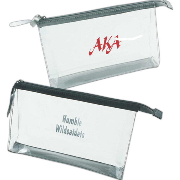 Printed Chic clear cosmetic bag