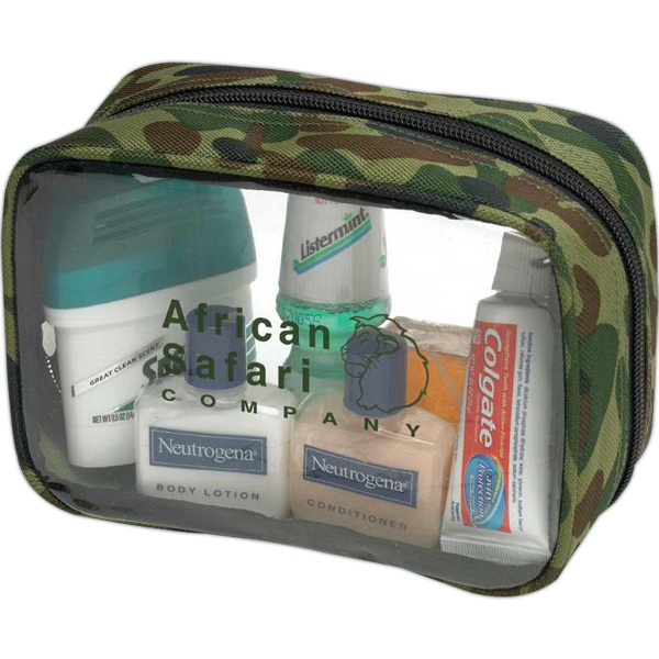 Personalized Clear bag with camouflage trim