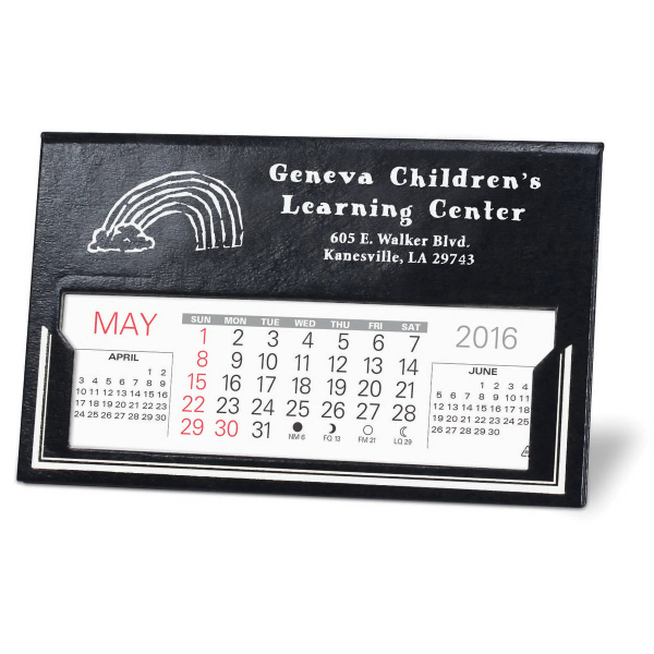 Imprinted The Livingston Desk Calendar