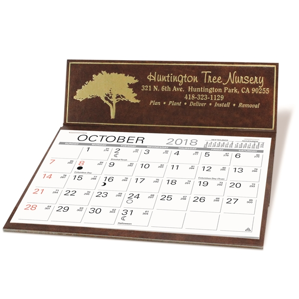 Imprinted Marquis Desk Calendar