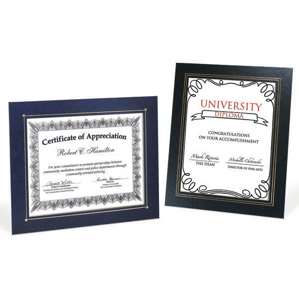 Customized Deluxe Wrapped Edge Certificate Frame