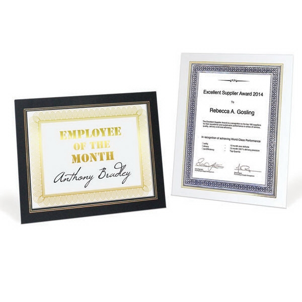 Printed Certificate Frame