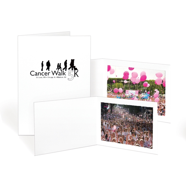 Imprinted White Photo Folders