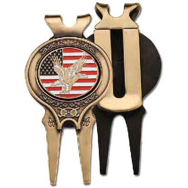 Custom Solid Brass Divot Tool with Custom Ball Marker